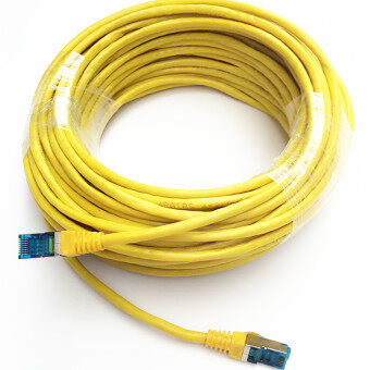 Harga 20M Ethernet Cable Blue CAT5 CAT5E RJ45 Network Ethernet Patch Cord Lan Cable RJ-45 Computer Accessories Yellow