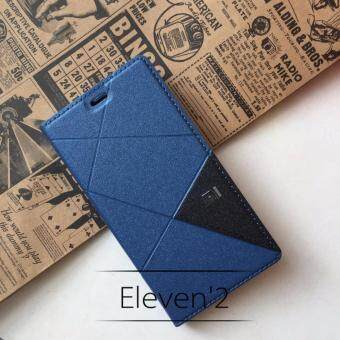 Harga Full Cover PU Leather Flip Case for Xiaomi Redmi 4A (Blue)