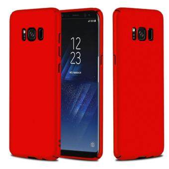 Harga NingMao Smoothly Shield Skin Shockproof Ultra Thin Slim Full Body Protective Hard PC Cover Scratch Resistant Case for Samsung Galaxy S8(Red)