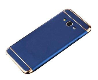 Harga 3 In 1 Ultra Thin and Slim Hard Case Coated Non Slip Matte Surface with Electroplate Frame for Samsung Galaxy J7 2015 (Blue)
