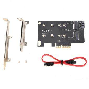Harga 2 Slots Adapter Card of M key PCI-EX4 and B key for M.2 NGFF SSD
