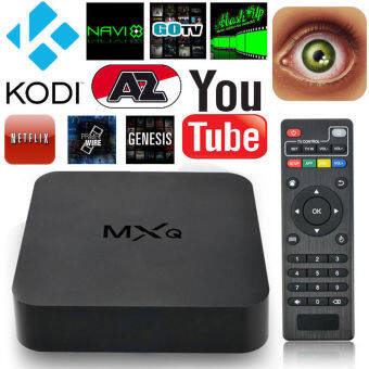Harga IPTV Smart Box Media Player Android4.4 Quad Core 1G+8G WIFI Kodi HD1080P TV MXQ (Plug UK)