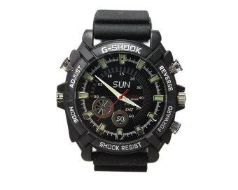 IR Night Vision HD SPY Waterproof Rub Watch 4GB