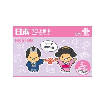 Japan Unicom (5GB) Travel Prepaid Sim Card