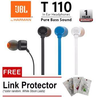 JBL T110 Pure Sound Bass Wired In-Ear Headphones With Microphone (BLACK)