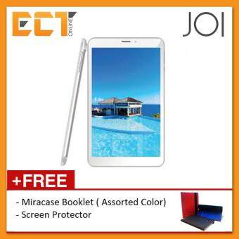 Malaysia Prices JOI 8 Lite 16GB 3G Dual Sim + Universal Booklet Case + Screen Protector (Pearl White)