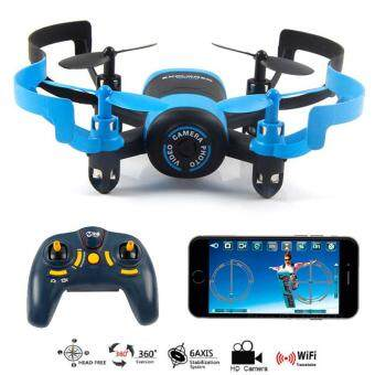 JXD 512W Mini UFO RC Quadcopter Drone Wifi FPV Camera 2.4G 4CH6-Axis (Blue)