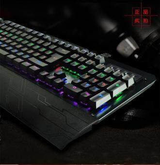 K26 Mechanical Keyboard Anti-Ghosting USB Wired Blue Switch key Colorful Backlit Metal Panel Gaming keyboard for PC laptop Malaysia