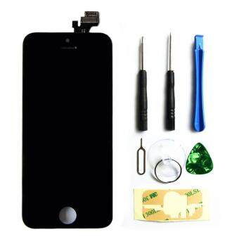 Harga LCD Display Touch Screen Digitizer Assembly with Frame ReplacementCell Phone Parts for iPhone 5(Black)