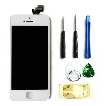 Harga LCD Display Touch Screen Digitizer Assembly with Frame ReplacementCell Phone Parts for iPhone 5(White)