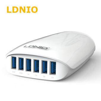 Harga LDNIO A6573 6 USB Port Power HUB Station 5.4A smart charger (White)