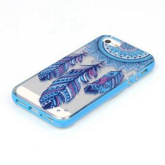 LED Flash Incoming Call Case Transparent Soft Back Cover for AppleiPhone 5/