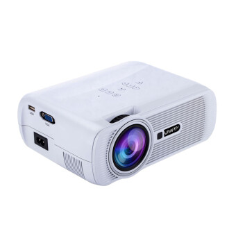 Leegoal 1000 Lumens LCD LED Mini Projector 1080P HD Home CinemaTheater Projector (White, UK Plug)