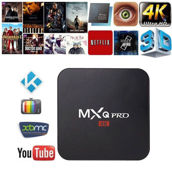 Harga Leegoal MXQ Pro Amlogic S905 Quard Core Tv Box Android 5.1 Smart TVBox 1080p HDMI 4k Streaming TV Box,UK Plug