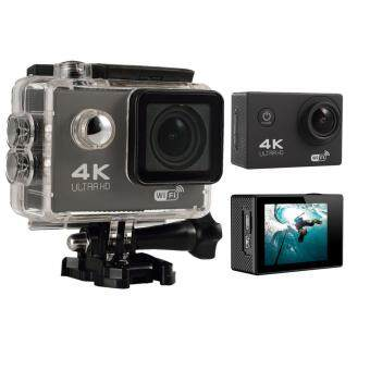 Leegoal4K HD Wifi Action Camera 2.0 Inch 170 Degree Wide Angle Lens Action Camera WIFI 4k Waterproof Sports Action Camera (Black)