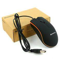 Lenovo  Computer Universal wired Mini mouse( New stock)USB notebook desktop office home mouse ( Black ) Malaysia