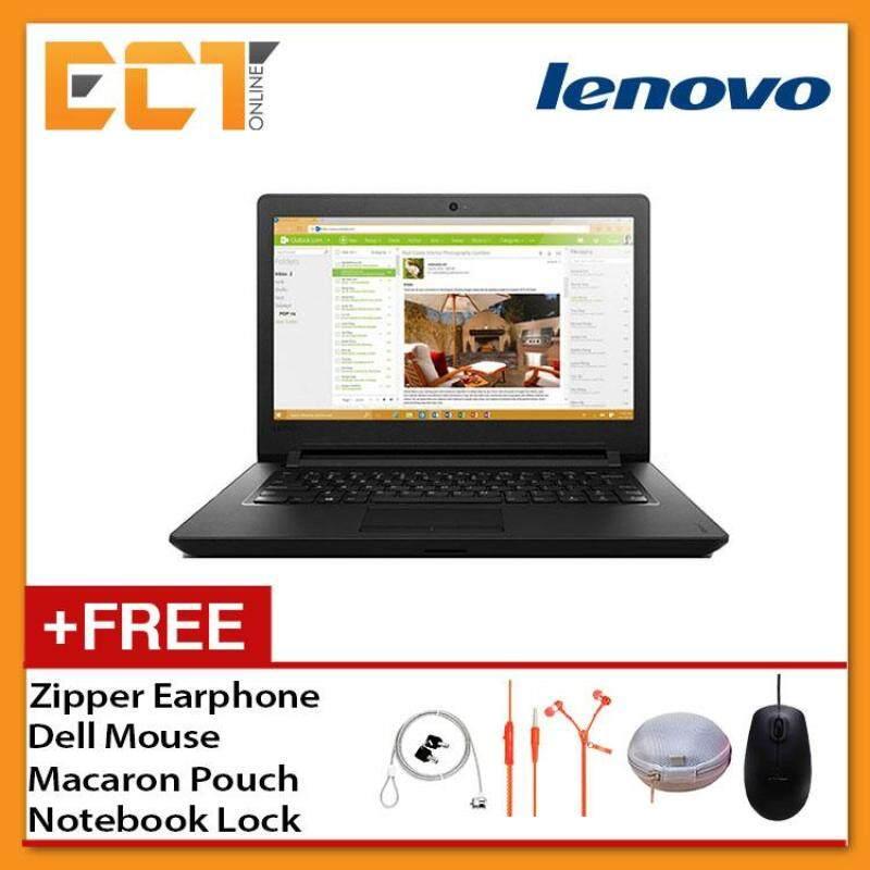 Lenovo Ideapad 110-14IBR 80T6009TMJ Laptop(Intel N3710 2.56Ghz,500GB,4GB,HD405,14,W10) - Black Malaysia