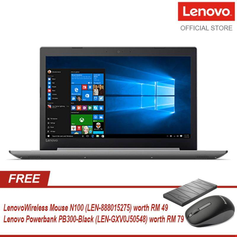 Lenovo IdeaPad 320-15AST 80XV007CMJ - Platinum Grey - FREE Lenovo Wireless Mouse N100 (LEN-888015275) worth RM 49 + Lenovo Powerbank PB300-Black (LEN-GXV0J50548) worth RM 79 Malaysia
