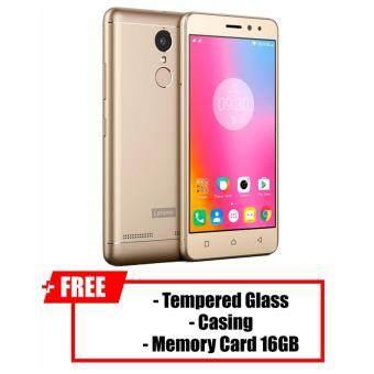 Lenovo K6 Power [4G LTE, 32GB Rom + 3Gb Ram] Original Malaysia Set+ Free Tempered Glass + Casing + Sandisk Memory Card 16GB