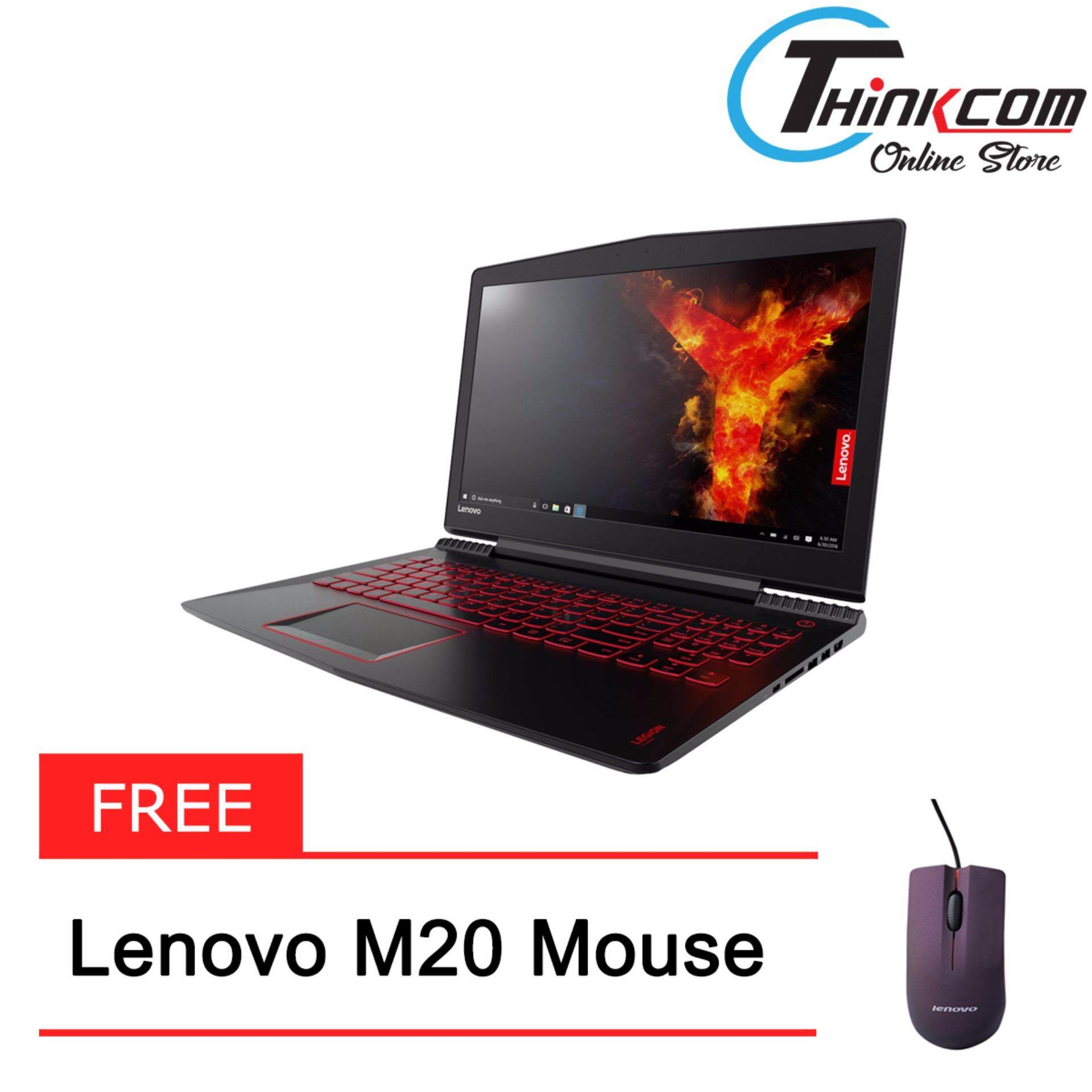 LENOVO LEGION Y520-15IKBN 80WK00M6MJ (I7-7700HQ/4GB/1TB/2GB GTX1050/DOS/2YRS CARRY-IN)+Free:Lenovo M20 Mouse Malaysia