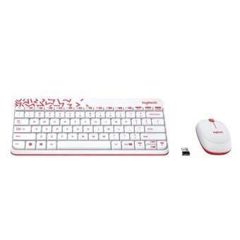 Logitech MK240 Nano Wireless Keyboard and Mouse Combo White/Vivid Red Malaysia