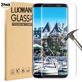Harga LUOWAN Galaxy S8 Plus Tempered Glass Screen Protector,[2 pack]3DFull Coverage Screen Protector for Samsung Galaxy S8 Plus(Clear)
