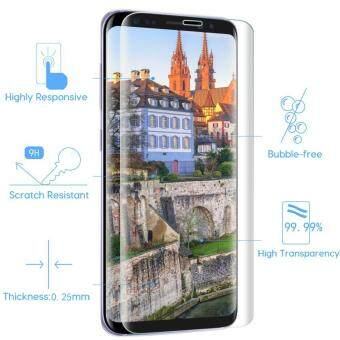 LUOWAN Galaxy S8 Plus Tempered Glass Screen Protector,3D Full Coverage Screen Protector for Galaxy S8 Plus (Clear) - 3