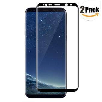 Harga LUOWAN Galaxy S8 Tempered Glass Screen Protector,[2 pack]3D FullCoverage Screen Protector for Samsung Galaxy S8 (Black)