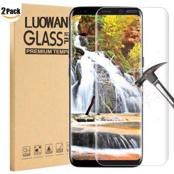 Harga LUOWAN Galaxy S8 Tempered Glass Screen Protector,[2 pack]3D FullCoverage Screen Protector for Samsung Galaxy S8 (Clear)