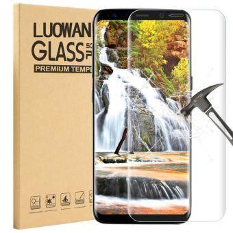 Harga LUOWAN Galaxy S8 Tempered Glass Screen Protector,3D Full CoverageScreen Protector for Samsung Galaxy S8 (Clear)