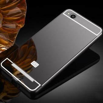 Luxury Plating Mirror Case Aluminum Metal Bumper + Acrylic Hard Back Cover for Xiaomi Redmi 4A