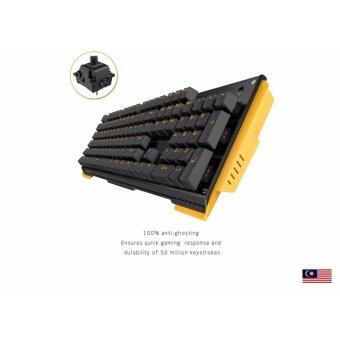 Harga ?MALAYSIA ? James donkey 619 mechanical backlit gold led gamingkeyboard BLACK switch 104KEYS