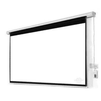 "Harga Meki EZ Screen Series High Quality Size 70"" x 70"" ( 6 x 6 feets)Motorized Projector Screen with Wireless Remote Control for LED/LCDProjector - Matte White"
