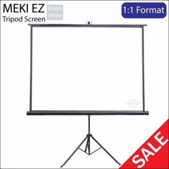 "Harga Meki Solid Series Tripod Projector Screen for Projector Screen Size 70"" x 70"" ( 6 x 6 feets) - Matte White"