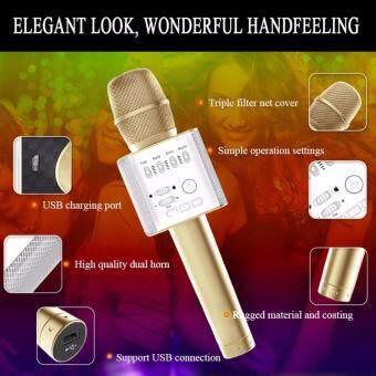 Micgeek Q9 Portable Wireless Bluetooth Karaoke Speaker Microphone Mic with Handheld Karaoke KTV Singing Function USB Support - 4
