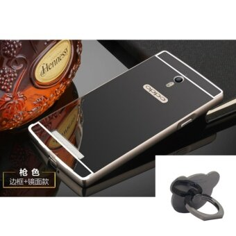 Mirror Metal Frame with Bear ring phone case for Oppo Find 7/OppoFind X9007(