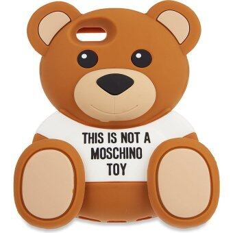 MOSCHINO 3D Teddy Bear Silicone Protective Back Case Cover Shell for Apple iPhone 6 plus/6S plus 5.5 Inch