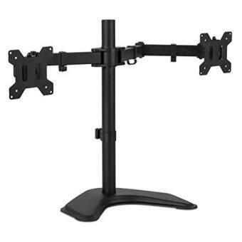 Harga Mount-It! MI-2781 Dual Monitor Desk Stand LCD Mount, Adjustable,Free Standing Two Computer LED Displays Stand 20, 23, 24, 27 InchScreen Sizes, Black