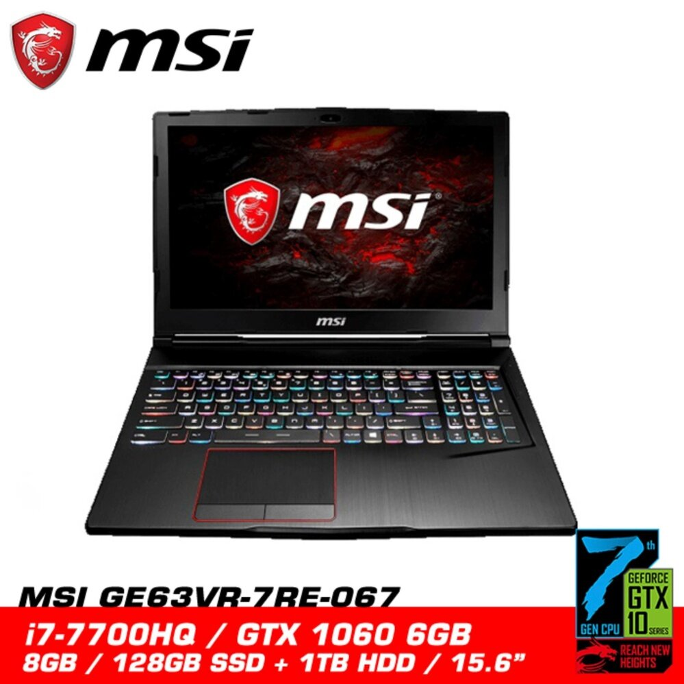 MSI GE63VR 7RE 067 RAIDER (GTX1060 6GB GDDR5) NEW MSI Malaysia