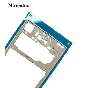 Mtmaiten New Silver middle frame middle Rear housing ReplacementPlate Compatible for Sony Xperia Z1 L39h C6903 - 4