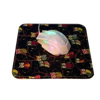 Multi-color ink Butterfly pattern leather mouse pad