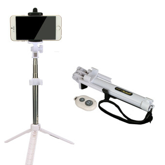 Harga Multi Function Bluetooth Selfie Sticks + Tripods Monopods (White)