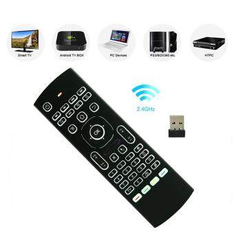 Harga MX3-L Backlit 2.4GHz Fly Air Mouse Wireless QUERTY Keyboard RemoteController for TV XBMC MX3