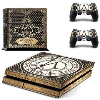 Harga New Assassin's Creed Decal PS4 Skin Sticker For Sony Playstation 4PS4 Console protection film and 2Pcs Controller Protective skins