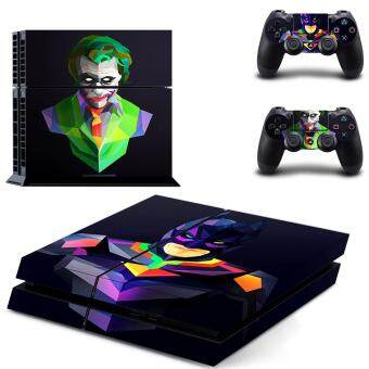 Harga New Batman Decal PS4 Skin Sticker For Sony Playstation 4 PS4Console protection film and 2Pcs Controller Protective skins