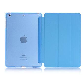 New iPad 2017 iPad 9.7 inch / Ipad Air (ipad 5) case, Welink Ultra Slim Smart Cover PU Leather Case for Ipad Air (ipad 5) / New iPad 2017 iPad 9.7 inch (Blue)