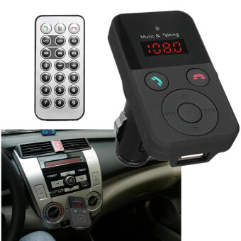 Harga New LCD Wireless Bluetooth Car Kit MP3 Player FM TransmitterModulator USB SD MMC