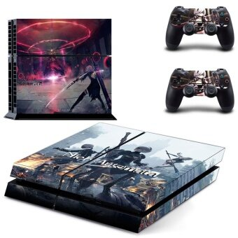 Harga new NieR Automata PS4 Skin Sticker For Sony Playstation 4 Consoleprotection film +2Pcs Controllers protective cover