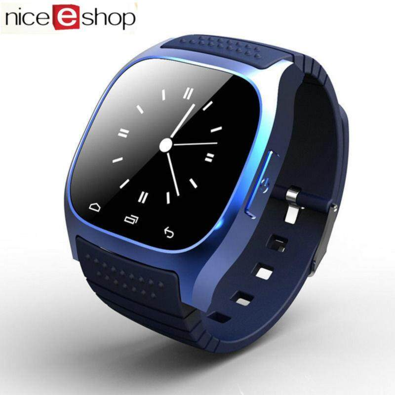 niceEshop Bluetooth Smart Wrist Watch Android Mobile Phone Watch, Blue Malaysia