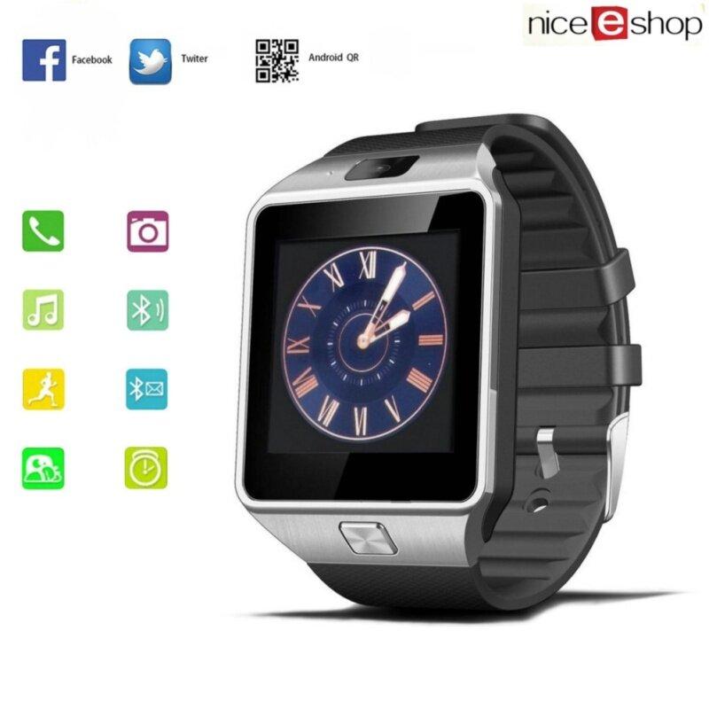 niceEshop DZ09 Unisex Glass And Acrylic Fashion Multi-Functional Casual Watch (Silver Black) Malaysia